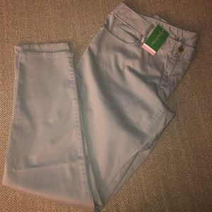 Lilly Pulitzer gray Worth Skinny Jeans - size 14